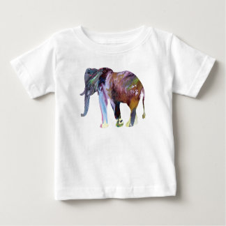 Elephant Art Baby T-Shirt