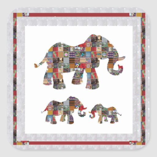 ELEPHANT Artistic Collection Patches KIDS NVN478 b Sticker