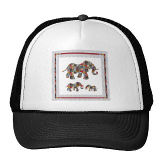 ELEPHANT Artistic Collection Patches NVN478 b Trucker Hat