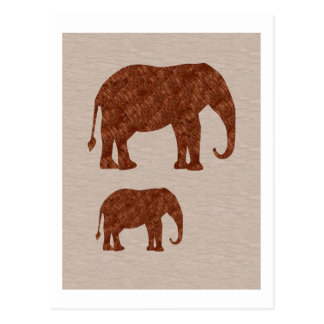 ELEPHANT : ArtWork on Copper Sheet Postcard