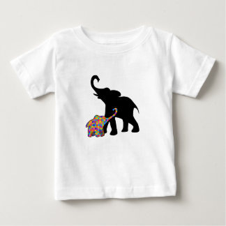 Elephant Autism Awareness Support Baby T-Shirt