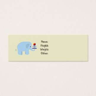 Elephant Baby Announcement Mini Business Card