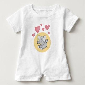Elephant baby baby romper