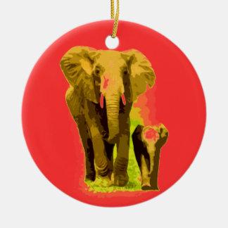 Elephant & Baby Elephant Christmas Ornaments