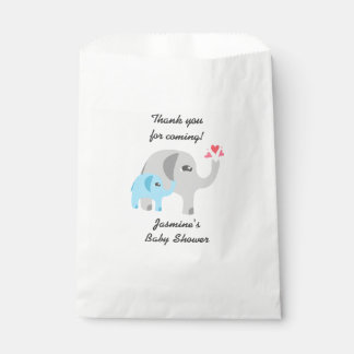 Elephant Baby Shower Blue and White Favour Bag