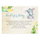 Elephant Baby Shower - Bring a book insert Postcard