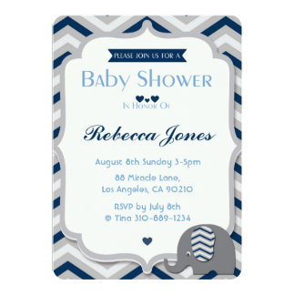 Boy Elephant Baby Shower Invitations Announcements Zazzle Canada