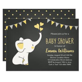 Elephant Baby Shower Invitations | Neutral