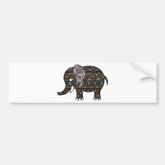 elephant batik graphic art bumper sticker