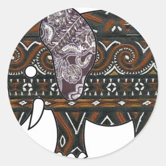 elephant batik graphic art stickers