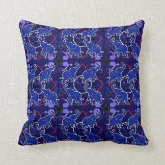 Elephant Blue Bandana Pillow