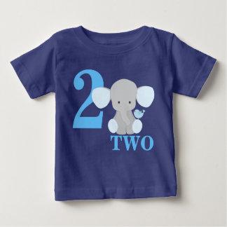 Elephant Blue First Second Third Year Birthday Boy Baby T-Shirt