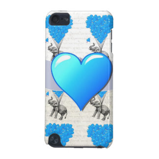 Elephant & blue heart balloons iPod touch (5th generation) covers