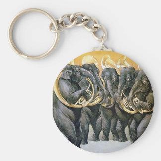 Elephant Brass Band Keychain