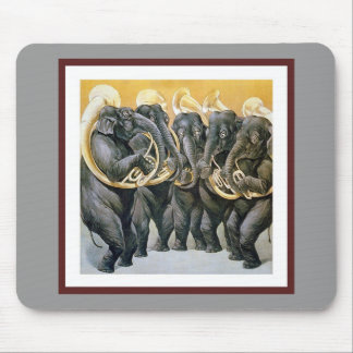 Elephant Brass Band Mouse Pad
