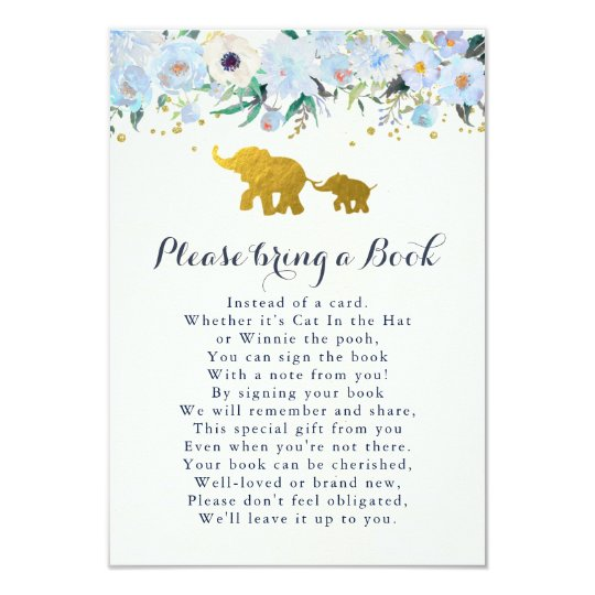 Elephant Bring A Book Card