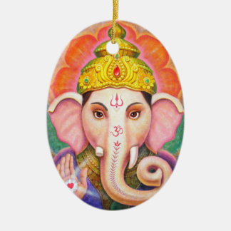 Elephant Buddha Art Ganesha Christmas Ornament