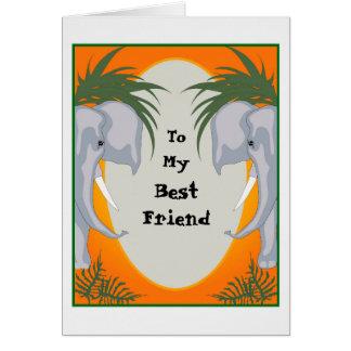 ELEPHANT CARD CARTOON Small GRETTING Card