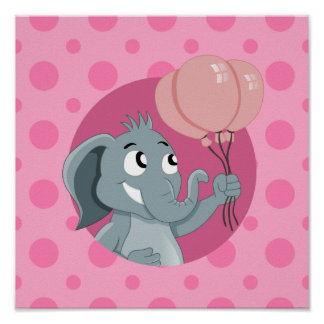 Elephant cartoon poster