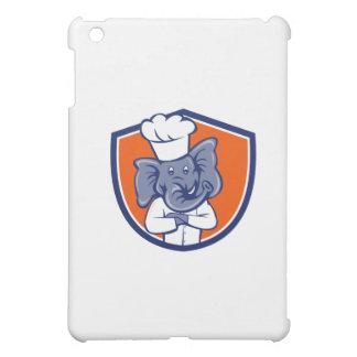 Elephant Chef Arms Crossed Crest Cartoon iPad Mini Case