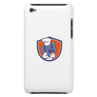 Elephant Chef Arms Crossed Crest Cartoon iPod Case-Mate Case