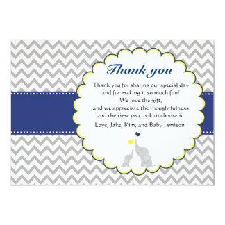 Elephant Chevron Baby Shower Thank You Card