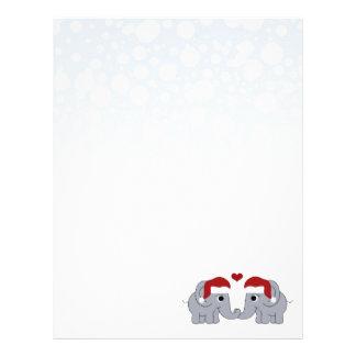 Elephant Christmas Customized Letterhead