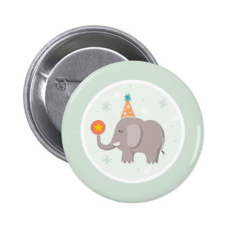 Elephant Circus Birthday Party 2 Inch Round Button