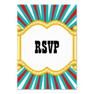 "Elephant Circus Kids Boys Birthday Party RSVP 3.5"" X 5"" Invitation Card"