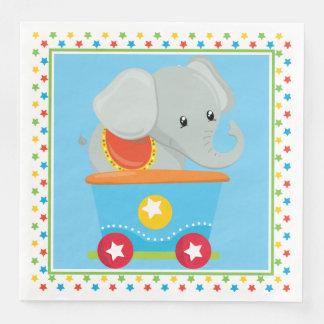 Elephant | Circus Train Disposable Napkins