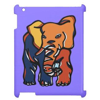 """Elephant Colorful"" 631 Art iPad Case"