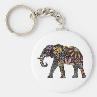 Elephant Colorful Keychain