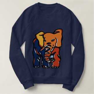 """Elephant Colorful"" Men's Raglan Sweatshirt"
