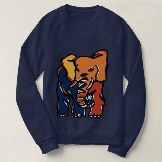 """Elephant Colourful"" Men's Raglan Sweatshirt"