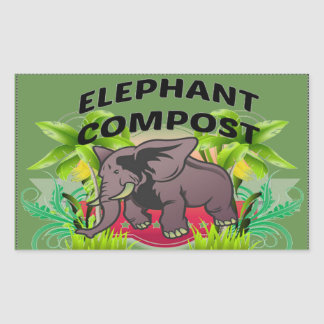Elephant Compost Stickers! Sticker