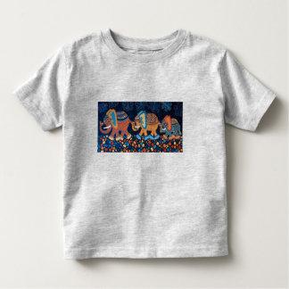 Elephant Conga Line Kids T-Shirt