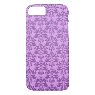 Elephant damask lilac iphone case