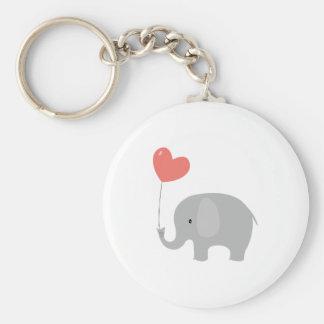Éléphant d'amour porte-clé rond