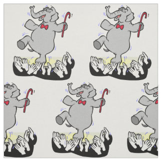 Elephant Dancing For Crowd ANY COLOR Fabric