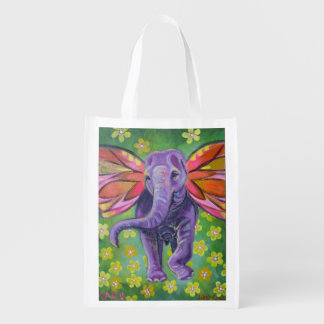 Elephant design tote bag