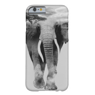 Elephant - double exposure art barely there iPhone 6 case