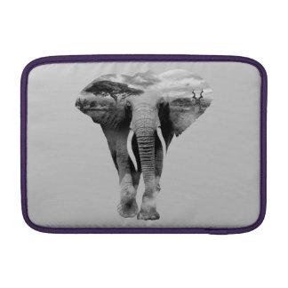 Elephant - double exposure art MacBook sleeve
