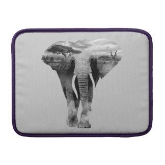 Elephant - double exposure art sleeve for MacBook air