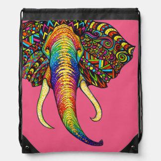 Elephant Drawstring Bag
