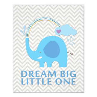 Elephant Dream Big Little One Nursery Art Photographic Print