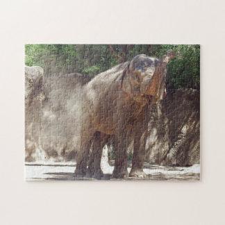 Elephant Dust Bath Jigsaw Puzzle