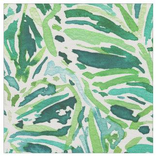 ELEPHANT EARS Green Tropical Leaves Fabric