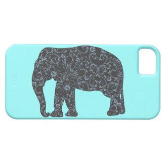 Elephant Elegant Damask Girly Case For The iPhone 5
