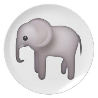 Elephant - Emoji Dinner Plates