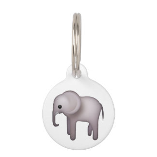 Elephant - Emoji Pet Name Tag